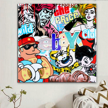 American Comic Cartoon Figure Street Graffiti Wall Art Vibrant Bright Colour Decorative Figure Poster Canvas Printings