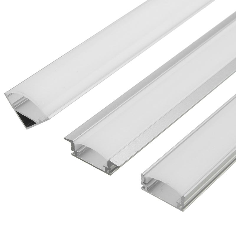 U/V/YW Style Shaped 45cm Silver Aluminium LED Bar Light Channel Holder For LED Strip Light Bar Cabinet Lamp(China)