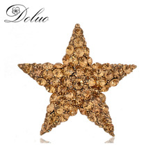 Six Colors Scarves deduction high - grade alloy Crystal - studded fashion five - pointed star brooch PIN Crystal brooch PIN