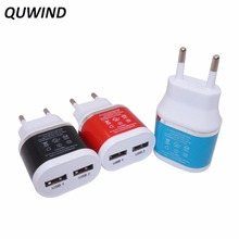 QUWIND Portable 5V 2A Dual USB Power Adapter EU Plug Wall Charger For iPhone iPad Huawei