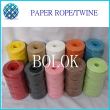 12pcs/lot 2mm*100yards/pc paper twist ribbon,Multi Raffia Paper Rope For Decorations DIY Colorful Paper String Gift Wrapping(China)