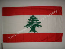 Lebanon Flag 150X90cm (3x5FT) 115g 100D Polyester Double Stitched High Quality Free Shipping(China)
