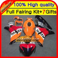 Body For HONDA CBR 1000RR 1000 RR 08 09 10 11 40HM109 Repsol CBR1000 RR 08-11 CBR1000RR 2008 2009 2010 2011 Fairing Red black