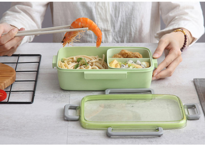 TUUTH New Microwave Lunch Box Independent Lattice For Kids Bento Box Portable Leak-Proof Bento Lunch Box Food Container A5