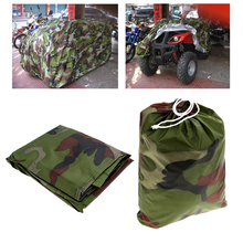 Universal Waterproof Dustproof Quad ATV Vehicle Scooter Motorbike Cover For Polaris /Honda /Yamaha /Suzuki Camouflage