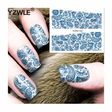 YZWLE 1 Sheet DIY Decals Nails Art Water Transfer Printing Stickers Accessories For Manicure Salon (YZW-132)(China)