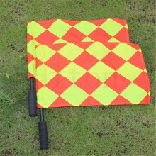 2pcs/set Soccer Referee Flag Judge Sideline Fair Play Sports Match Football Linesman Flags with Bag Referee Equipment