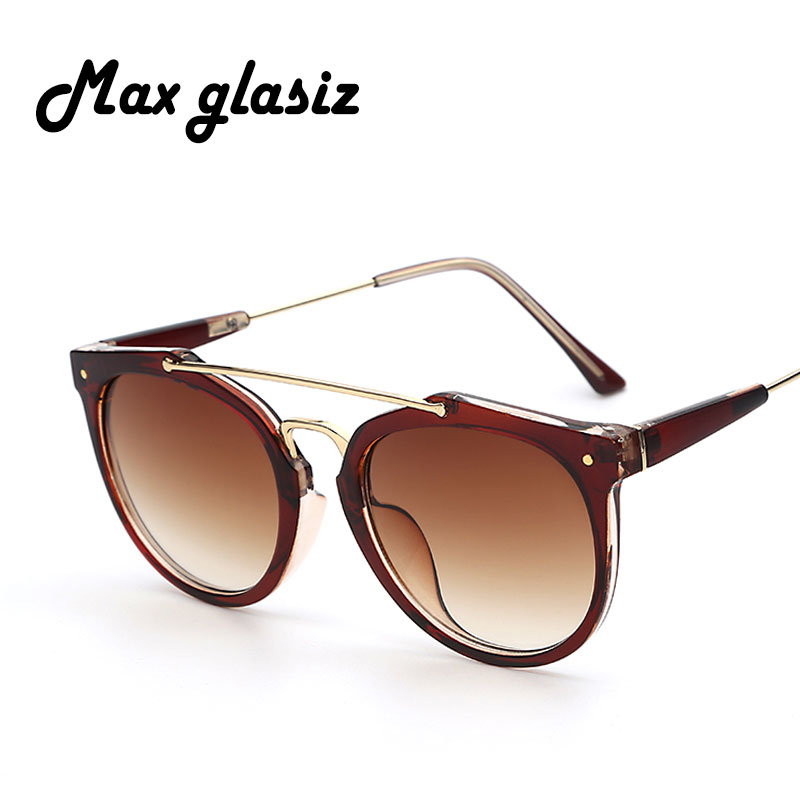 Maxglasiz Round Women Brand Designer Vintage Rivets Retro Fashion Female Sunlasses Leopard Men Sun Glasses Frame Gafas De Sol<br><br>Aliexpress