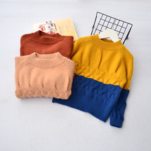 Kids Clothing 2017 Kids Knit Panada Pullover Babies Autumn Jumper Sweater Childrens Autumn Clothes(China)