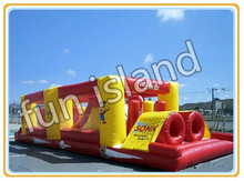 Free Shipping 2017 cheap inflatable obstacle course/ adult inflatable games