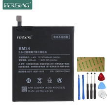 Ferising 3010mAh BM34 Battery For Xiaomi Mi Note Pro 4GB RAM 0 Cycle Mobile Phone Replacement Mobile Phone Batteries + Tools kit(China)