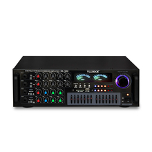 7-band equalizer USB SD FM radio WAV playback Bluetooth 2.0 channel 100W high power karaoke KTV audio reverb power amplifier(China)