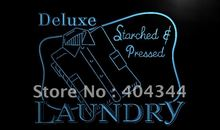 LK935- Laundry Dry Clean Starched & Pressed Light Sign home decor shop crafts(China)