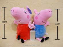 genuine 1PCS 46CM pink Peppa Pig Plush pig Toys high quality hot sale Soft Stuffed cartoon Animal Doll For Children's Gift