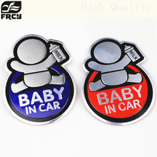 CAR STYLING Baby IN CAR Warning Decal Reflective Car Stickers FOR BMW AUDI MAZDA VW SKODA LADA OPEL SKODA PEUGEOT