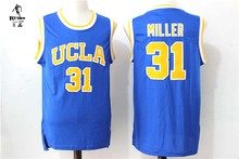 CANGSHI 2017 New arrivals High quality embroidery UCLA #31 Reggie Miller blue basketball jerseys for men