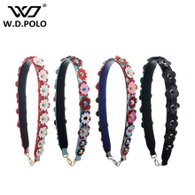 WDPOLO Strap You genuine leather flower women Shoulder Strap Contrast Color bags handle Famous Brand Bag Accessorie z1058(China)