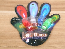 500pcs/lot(=125sets) Free Shipping LED Ring Led Finger Light Laser Finger Flashlight Beam For Party With retail pakcage