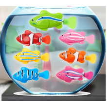 1pc Cute Robofish Activated Battery Powered Robo Fish Toy Fish Robotic Fish Tank Aquarium Ornaments Decorations