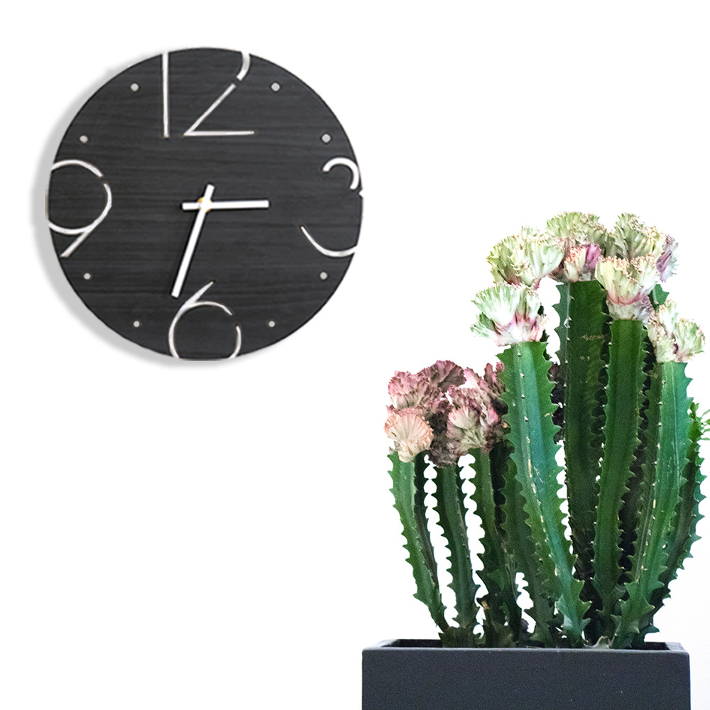 Creative simple 29CM wood wall clock modern design Digital wall clocks bedroom wall clock clocks for home Wedding decoration(China (Mainland))