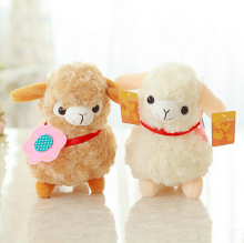 1PCS New Alpaca Sheep Plush Toy Cream Arpakasso Llama Doll Stuffed Animal For Kid Gift Hot Sell(China)