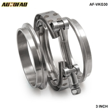 AUTOFAB - Universal Upgraded Auto Parts Turbo Exhaust pipes 3 inch V-Band Clamp Kit AF-VKG30(China)