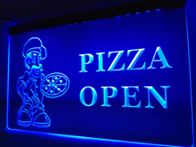 LM127- Pizza OPEN Cafe Store LED Neon Light Sign home decor crafts(China)