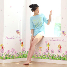 New Arrival 127*53cm Dandelion Love Flower Wall Decals For Living Room Kitchen Cabinet Decoration Tie Stickers Poster