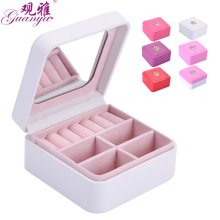 Guanya Jewelry Packaging Box Casket Box For Exquisite Makeup Case Cosmetics Beauty Organizer Container brand Boxe 9.5*9.5*5cm(China)