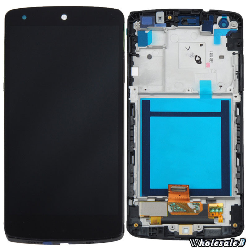 For LG Google Nexus 5 D820 D821 LCD Display Touch Screen Digitizer Assembly + Frame<br><br>Aliexpress
