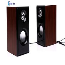 042 Small Era Wooden Speakers USB2.0 Small Computer Speakers Aux Mp3