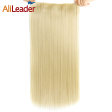 Alileader 60Cm Hair Kanekalon Synthetic Extension Straight Clip In Hair Extensions Women Hairpiece Ombre Color 22 Inch 1Pcs/Lot