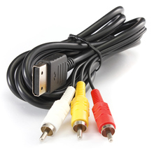 Newest 1.8M Composite RCA AV Cord For Sega Dreamcast Stereo Composite Audio Video TV Adapter Cable