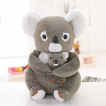 Free shipping!30cm\40cm high quality Cute koala plush toy doll gray bear toys for children's birthday gift