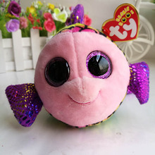2017 flippy multicolored fish TY BEANIE BOOS 1PC 15CM Plush Toys Stuffed animals children toy SOFT TOY home decor