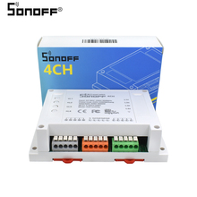 Itead Sonoff 4CH Pro Multi-channel Wireless Wifi Switch For Smart House Home Automation Module 433mHZ Remote Controller 220V(China)