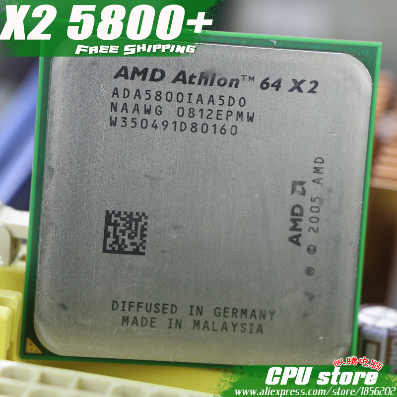 AMD Athlon 64 X2 5800+ CPU Processor (3.0Ghz/ 1M /1000GHz) Socket am2  (working 100% Free Shipping) 940 pin ,sell X2 5600+