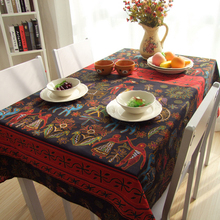 Southeast Asian nation wind cotton and linen tablecloth for Dinning Table Tea Tables Table cloth(China)