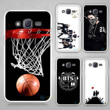 Basketball dark Hard White Case Cover for Samsung Galaxy J1 J2 J3 J5 J7 C5 C7 C9 E5 E7 2016