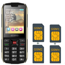 4 SIM card 4 standby power bank mobile phone 2.8 inch Bluetooth Flashlight GPRS  cell phones Russian Language keyboard SERVO H8