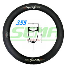 SEMA T700 18 inch 355 carbon rim 3K/UD/12K weave rims super light 235g for road bicycles folding bike best quality carbon rim(China)