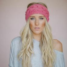 2017 New Stretchy Wide Head Band for Girl and Woman Hair Wide Turban Headwrap Women Bandanas Headband 1pc Knit wrap weave knited(China)