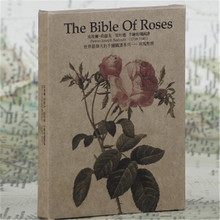 "30pcs/lot "" Rose Bible postcards set"" gift card set Stationery message cards, invitation cards,Kraft paper greeting cards(China)"