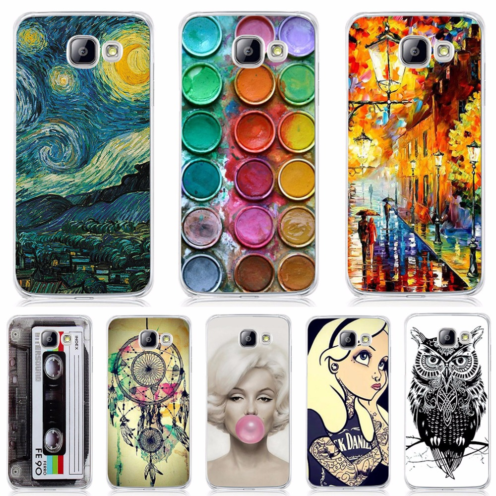 Case Samsung Galaxy A5 2016 A510 Case Cover Soft Silicone TPU Pattern Back Cover Samsung A5 2016 A5100 A510F Phone Cases