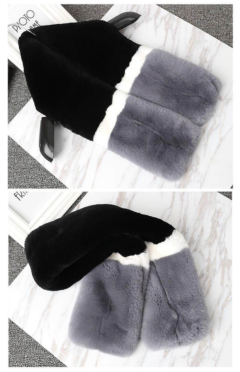 color rex rabbit scarf grey ends 1