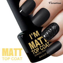 Verntion 2017 Hot Sale Nail Gel vernis semi permanent Art Clear Matte Top Coat LED UV Soak Off Matt Cheap Gel Lacquer