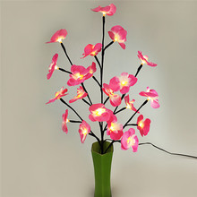 LED Flower Light Decoration Lamp for Home Desk Festival Decoration Simulation Tree Flower Lamp Wedding Party Garden Luminous(China)