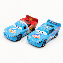 Disney Cartoon Movie Pixar Cars Diecast 2pcs/Lot Dinico Lightning Mcqueen Alloy Metal Toy Car For Children 1:55 Car Model(China)
