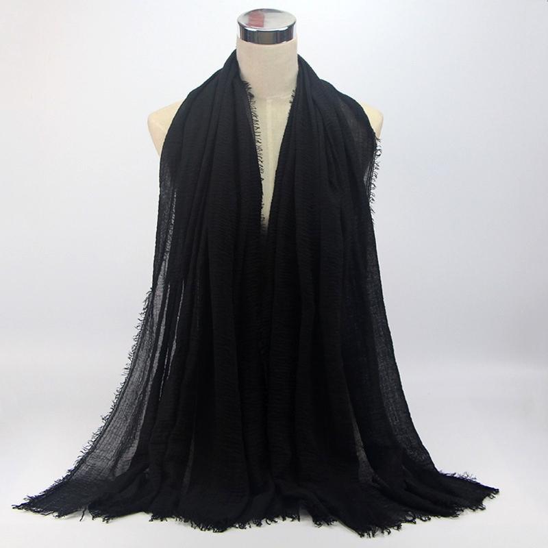 Women Crinkle Cloud Hijab Scarf Shawl Muslim Long Shawl Stole Wrap 7