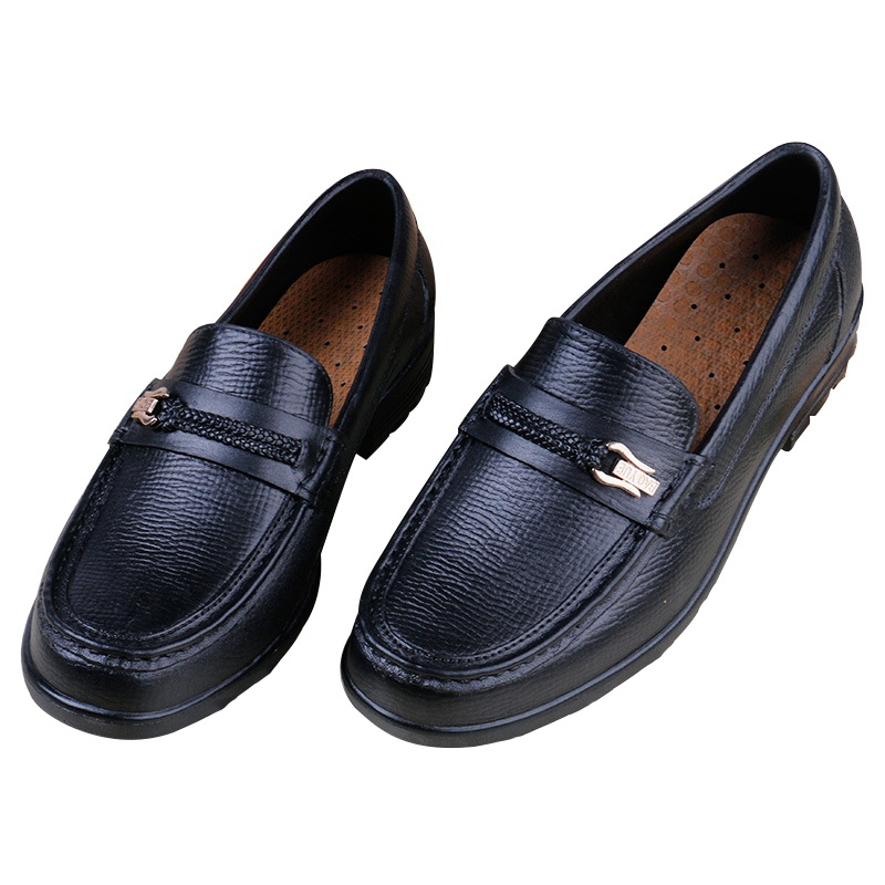 Newly Men Work Shoes Comfy Restaurant Kitchen Chef Shoes Anti-Slip Safety Cozy Breathable Slip-on Loafers for Male Black<br><br>Aliexpress